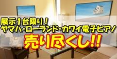 写真:【売り尽くし】ヤマハ・カワイ・ローランド電子ピアノ1台限りの特価! すみやグッディ本店アネックス
