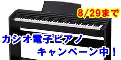 写真:カシオ電子ピアノキャンペーン中!8/29まで|富士店