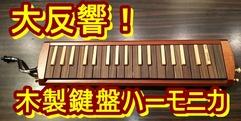 写真:人気爆発寸前?木製鍵盤ハーモニカスズキ