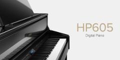 写真:【静岡 電子ピアノ ローランド】6スピーカー搭載!ローランド デジタルピアノ HP605|本店